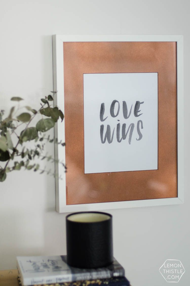 DIY Copper photo frame mat- this is such an easy upgrade!   *All ...