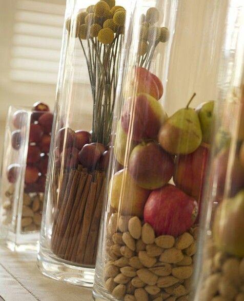 Para la cocina frascos de vidrio decorados y veladoras for Jarrones de vidrio decorados