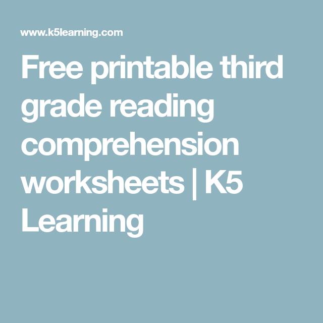 Free printable third grade reading comprehension worksheets   K5 ...