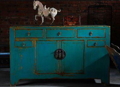 Meuble chinoisbleu meubles pinterest meubles for Commode japonaise