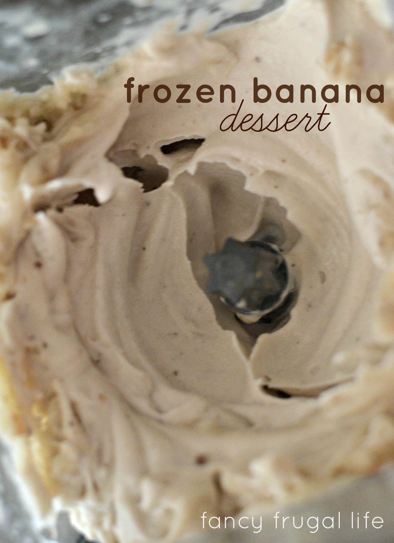 just frozen bananas dessert
