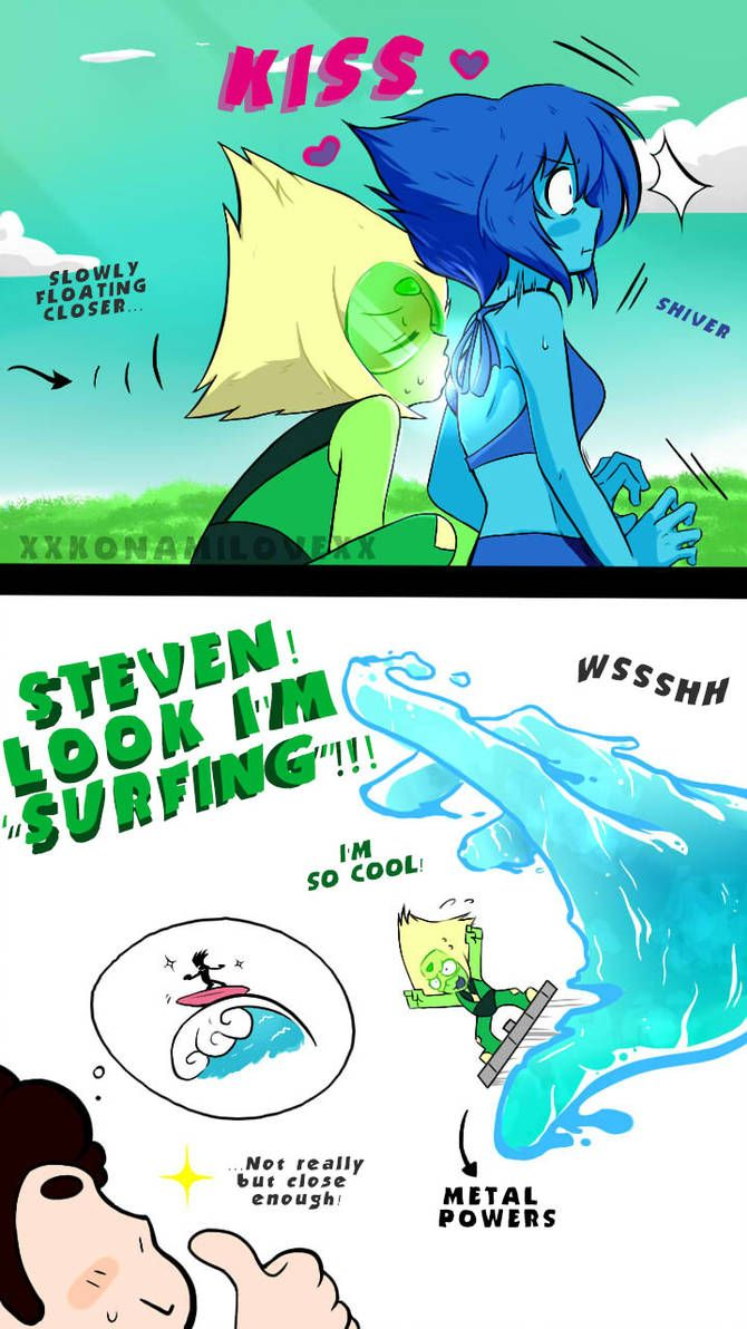 Trying new things (Lapidot) by xXKonamiLoveXx on DeviantArt
