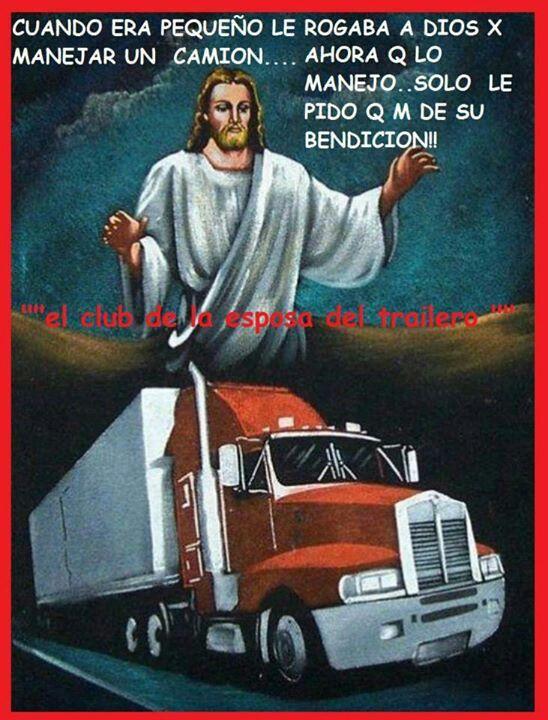 Dios Los Bendiga Frases De Camioneros Camion Dibujo Y