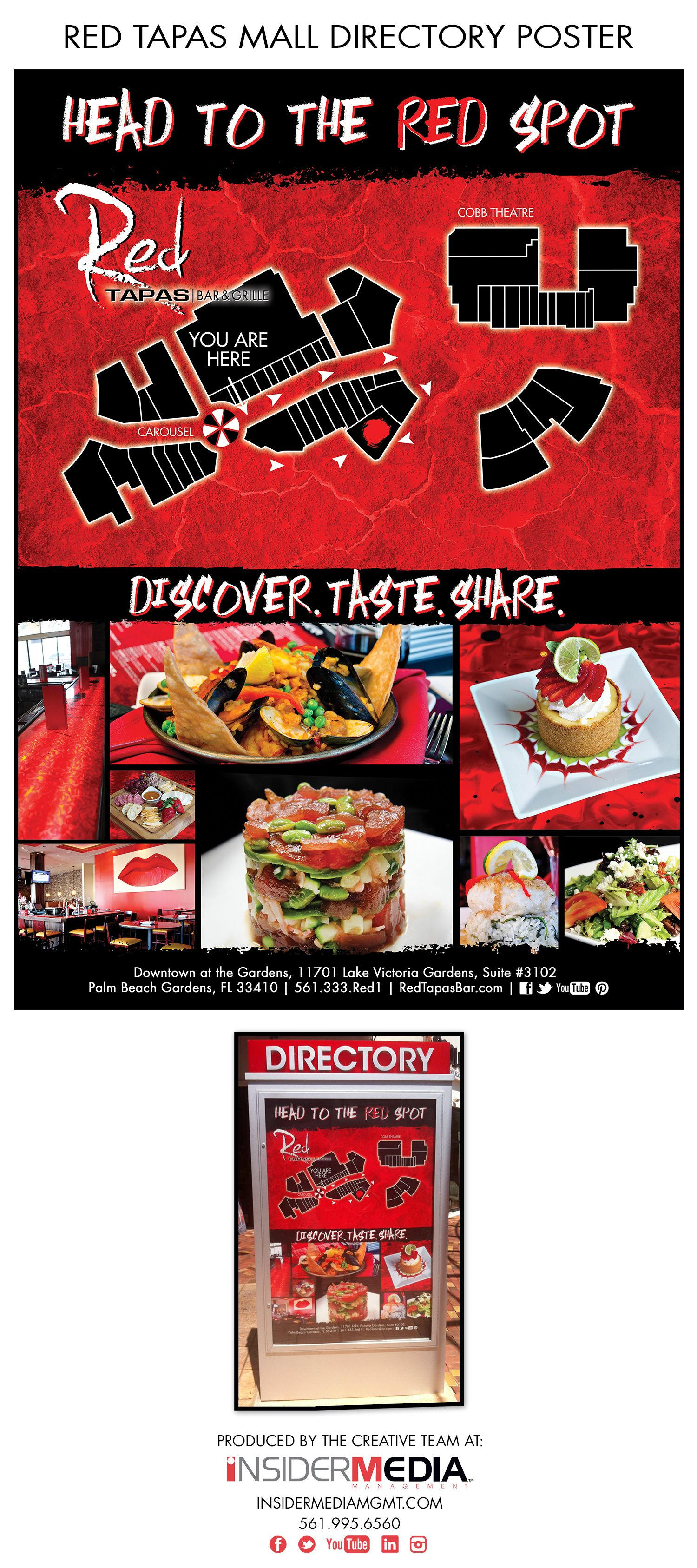 This Mall Directory Poster Was Produced For Our Client #RedTapasBar To  Display The Location Of