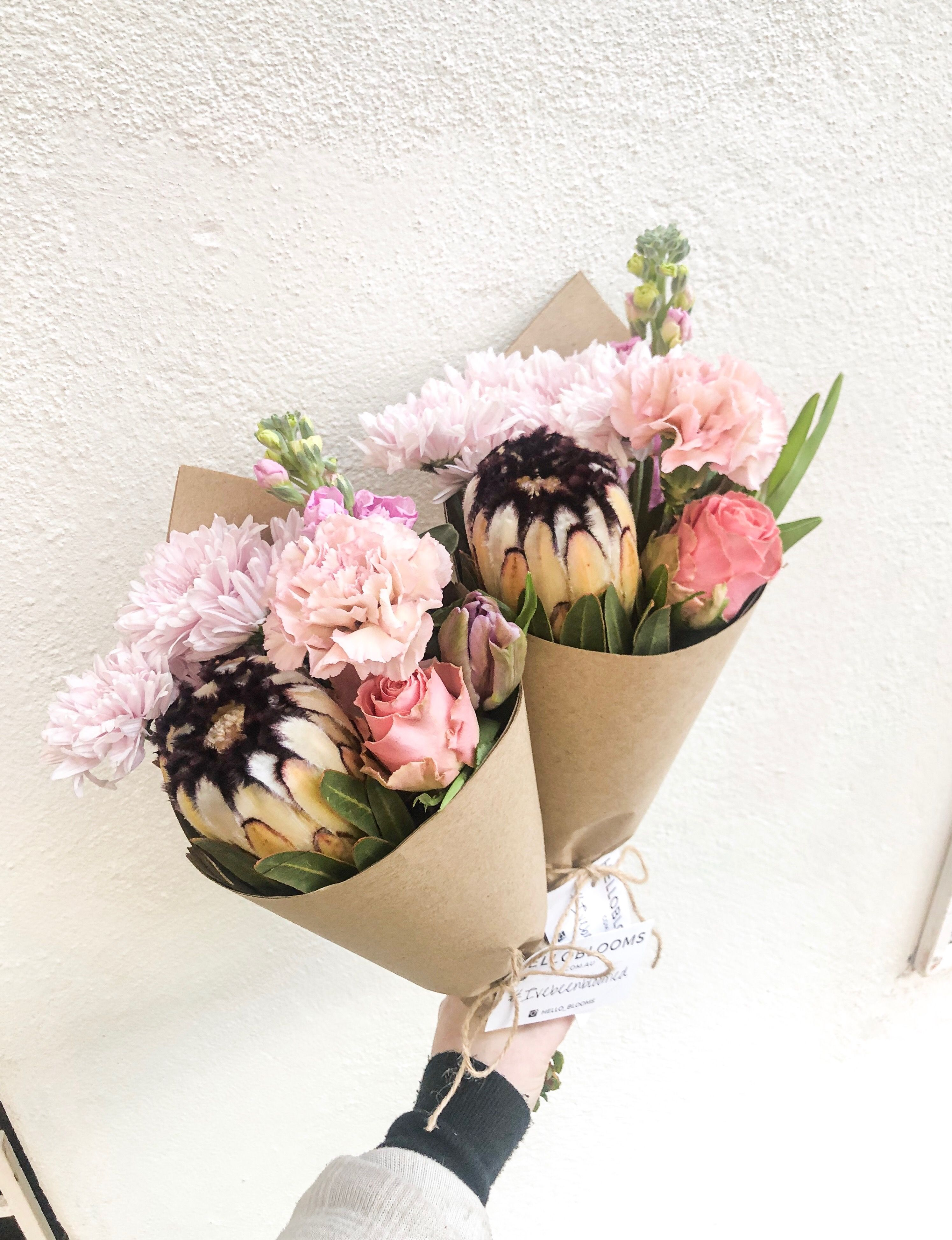 Mink Protea's feature in our beautiful posy on this