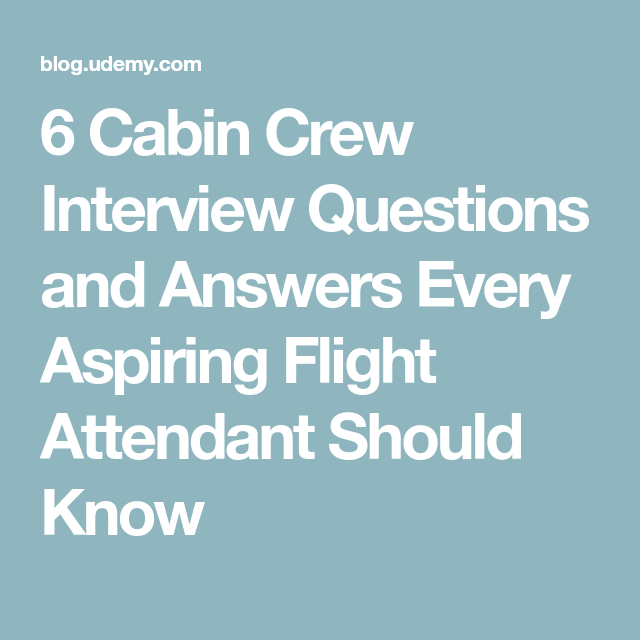 flight attendant interview answers