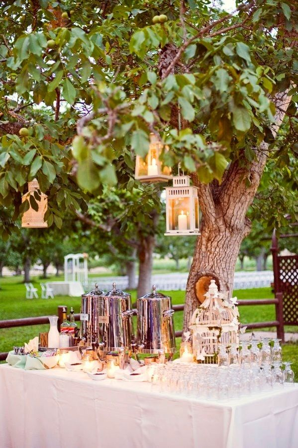 A Gourmet Coffee Bar Outdoor Wedding Ideas Done Here At