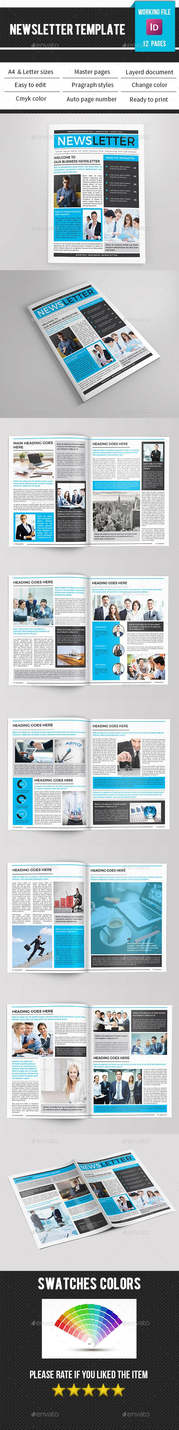Corporate Newsletter-V10 | Print templates, Newsletter templates and ...