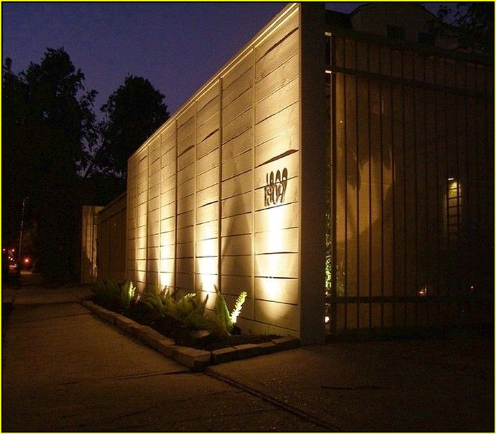Uplighting And House Numbers Fence Ideas Pinterest Fences Outdoor Lighting
