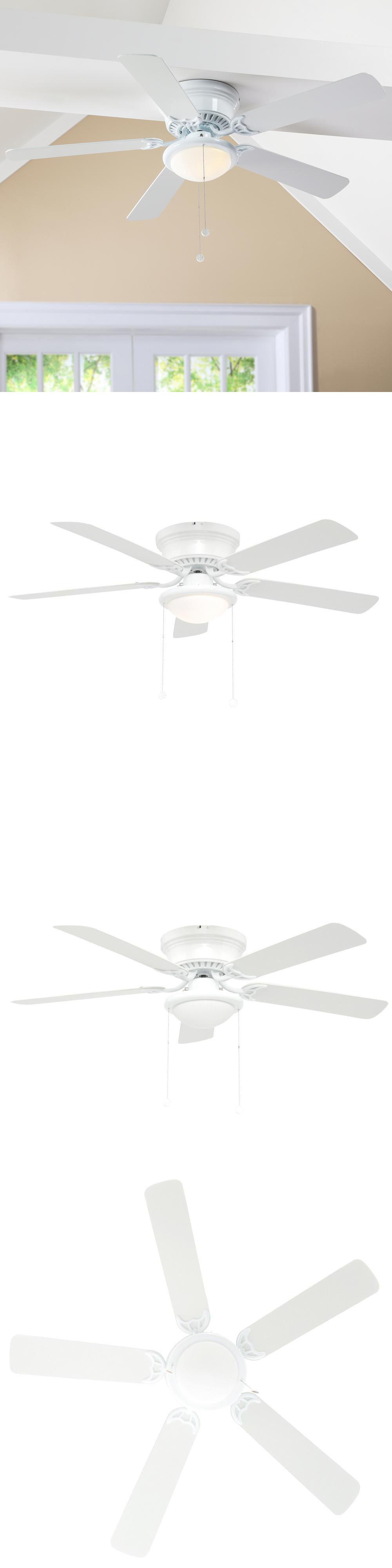 Ceiling Fans 52 Hugger Ceiling Fan White Flush Mount