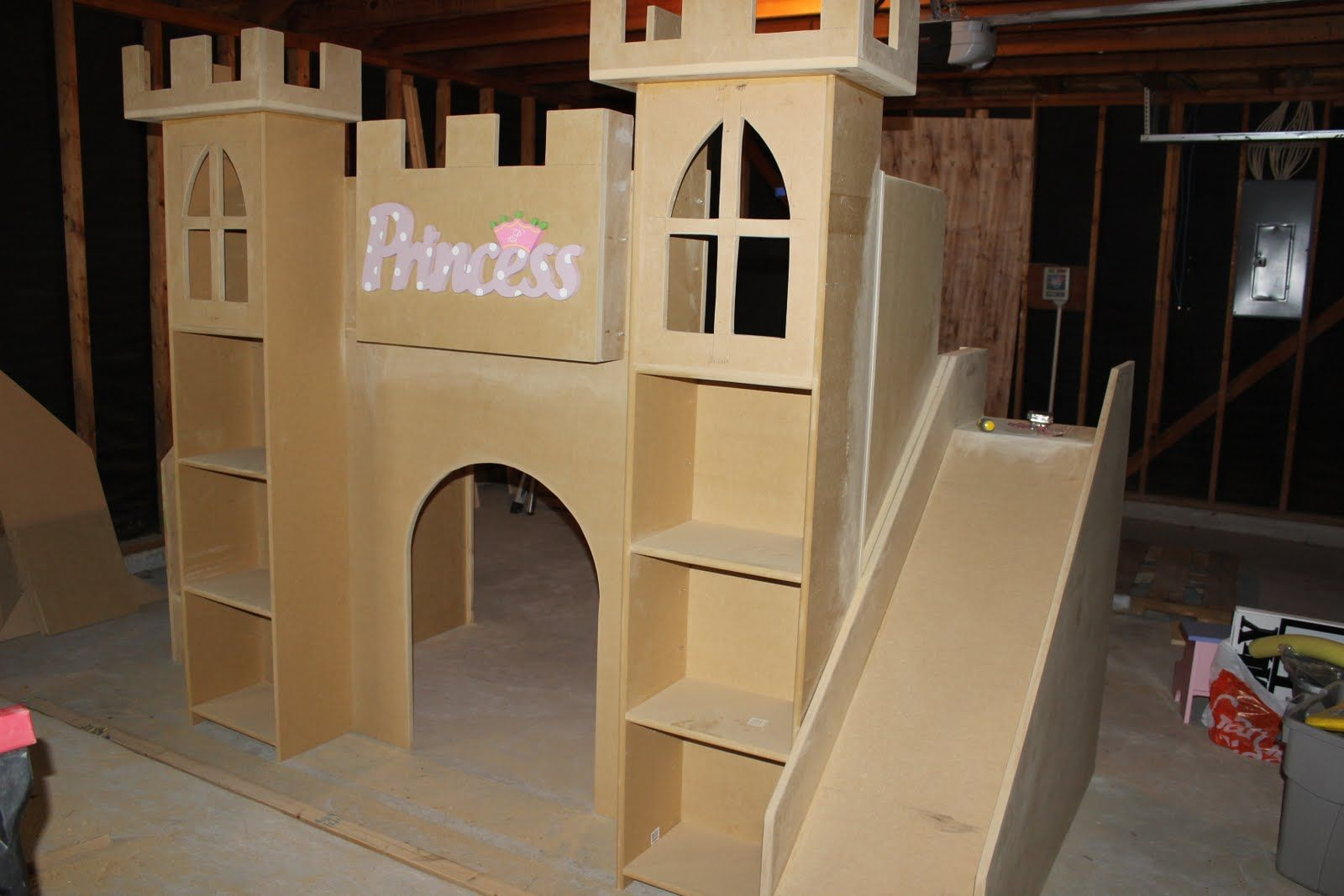 Princess castle bed decorating new house pinterest for Princess bed blueprints