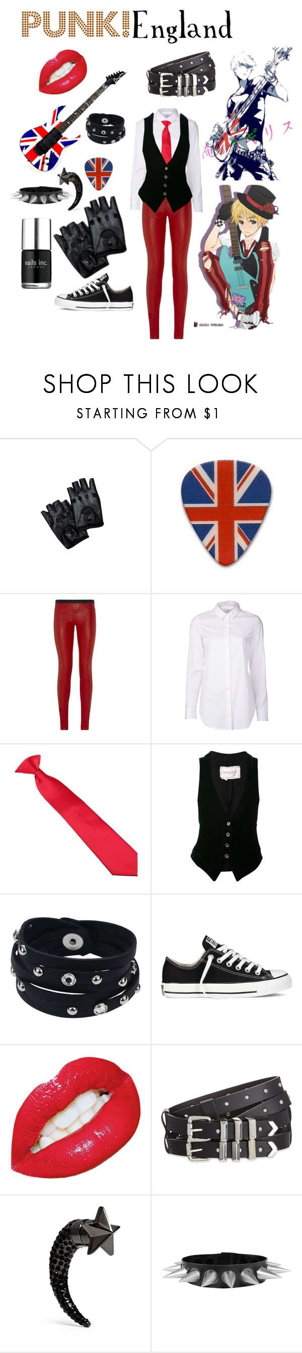 """""""Punk Enland (hetalia)"""" by isabel-kitty-marie ❤ liked on Polyvore featuring Julio, Helmut Lang, Closed, Greg Lauren, Vance Co., Converse, The Kooples, Givenchy, Nails Inc. and Punk"""