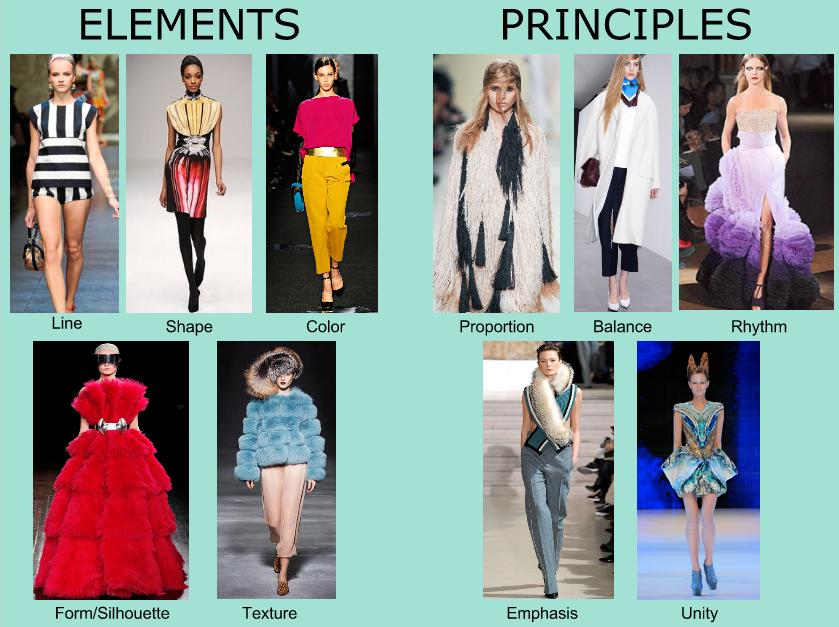 Keys Of Fashion Design Elements And Principles Fashion Design