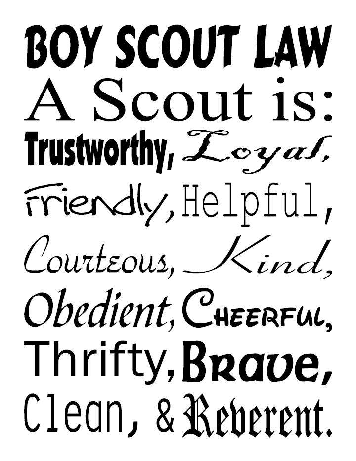 graphic regarding Boy Scout Law Printable titled Pin upon Scouts