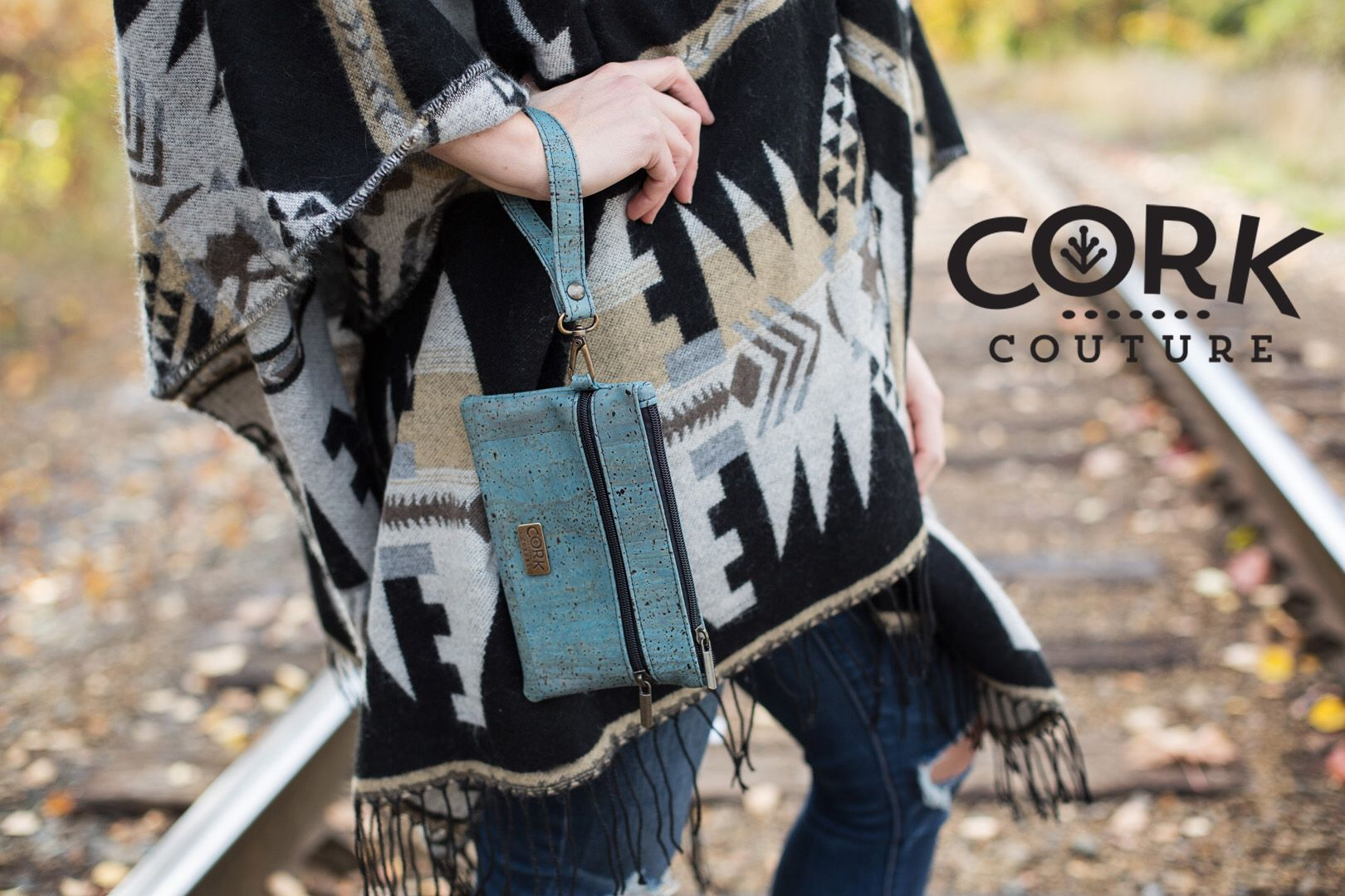 Blue cork wristlets Shop now for cork handbags free shipping in Canada. www.corkcouture.ca