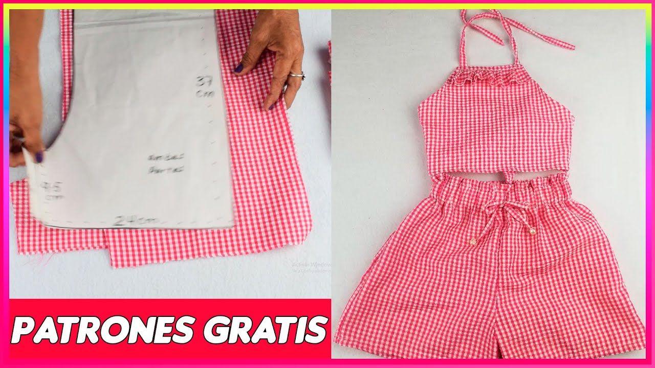 Diy Cómo Hacer Conjunto Short Y Blusa Para Niñas Paso A Paso Conjuntos Para Niños Patrones De Ropa Para Niños Costura De Vestidos De Niñas