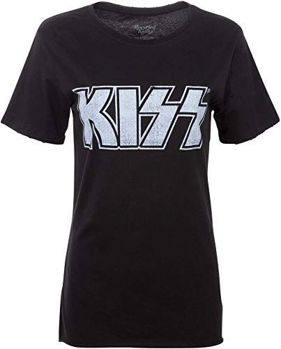 Best Seller Women's Black KISS Shirt Love Gun Tour 1977 Tee Vintage Look Band Tshirt online - Fortrendytoprated 1
