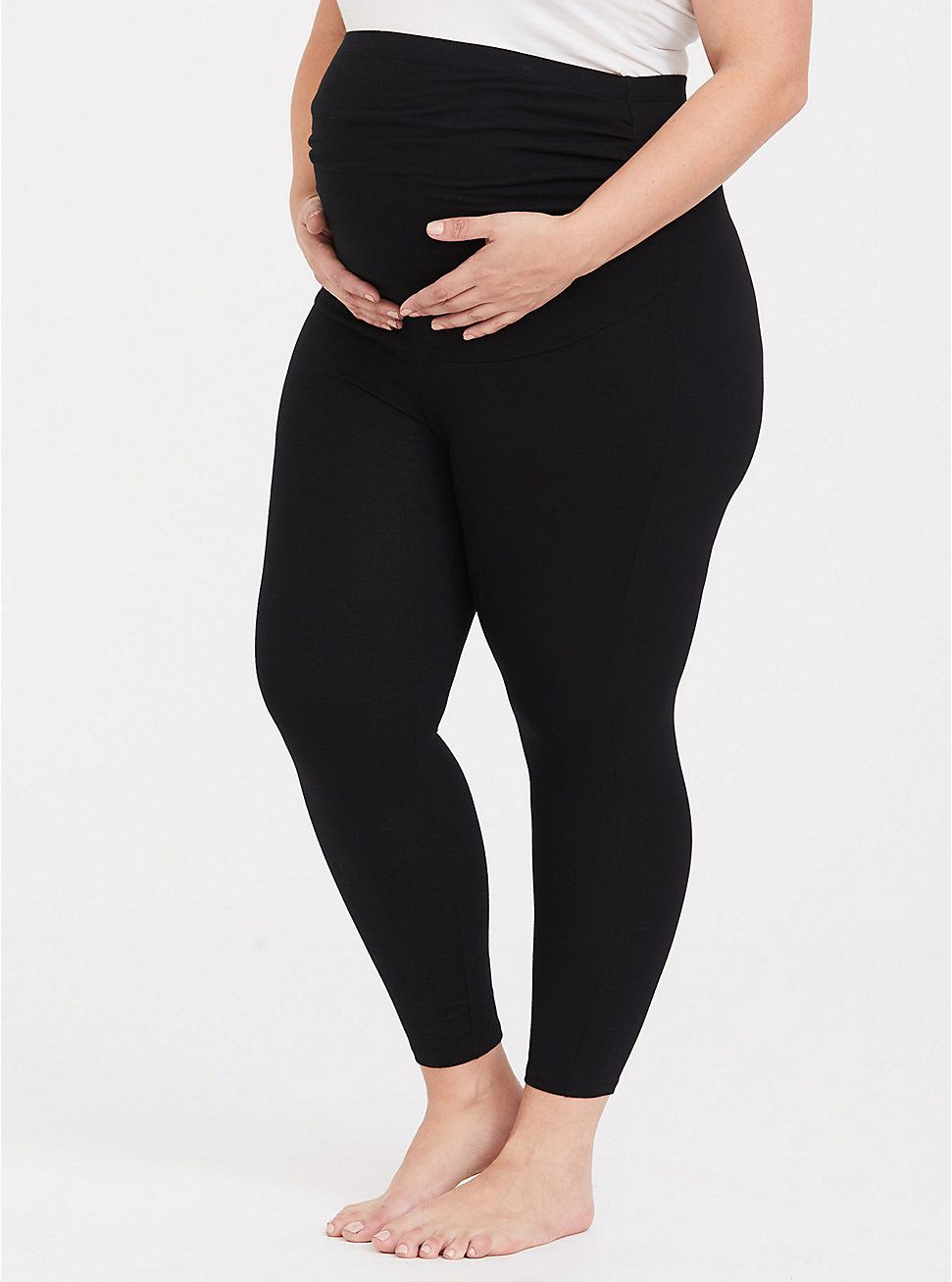 b166bfd1550d6 Black Crop Maternity Legging in 2019 | Maternity Wear | Maternity ...