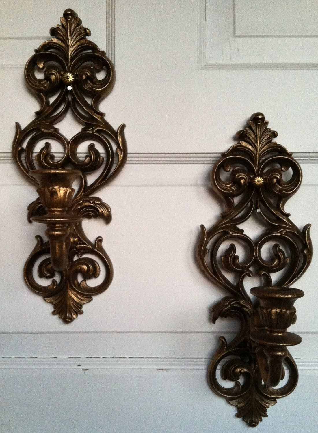 Vintage Candle Wall Sconce   Candle wall sconces, Upcycle ... on Vintage Wall Sconce Candle Holder Decorating Ideas id=57953
