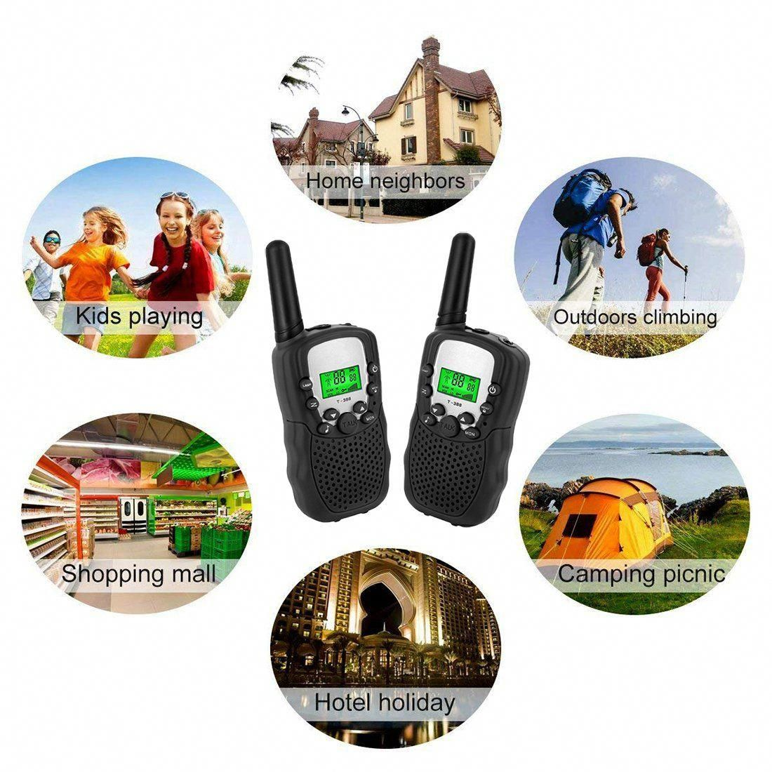 11a71b9edb4 Toys for 3-12 Year Old Boys JoyJam Kids Walkie Talkies 2 Miles Long Range  Kids Outdoor Games Christmas Birthday Gifts for 5-8 Year Old Boys Black - 1  Pair ...