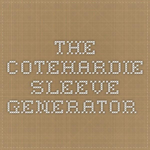 The Cotehardie Sleeve Generator | SCA - cotehardie | Pinterest ...