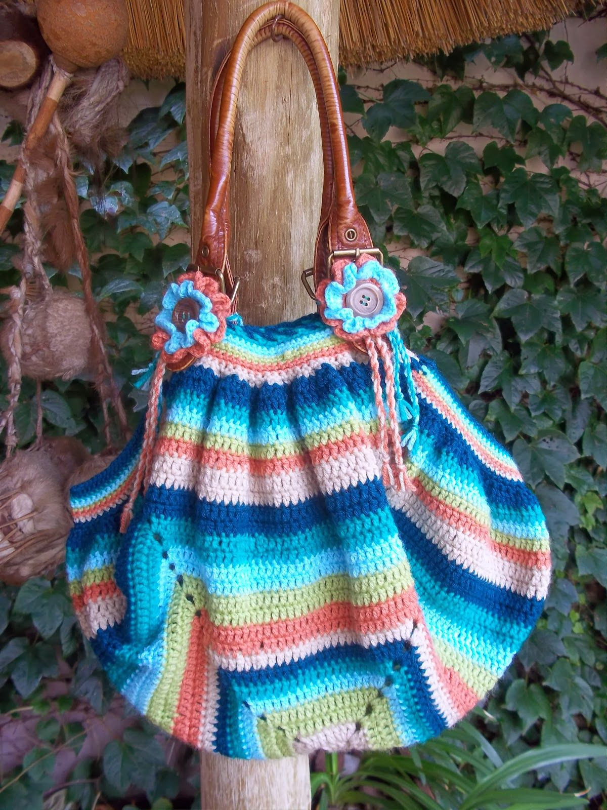giant granny square bag ~ free pattern ᛡ | Crochet bolsos - Bags ...