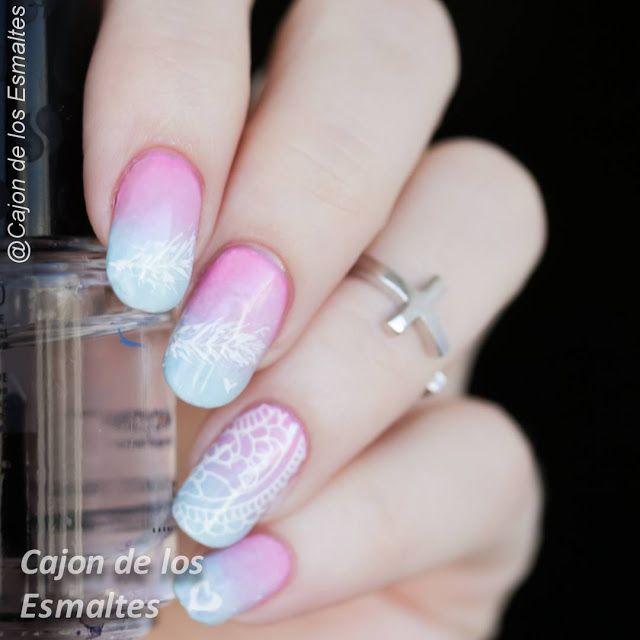 Decoración de uñas con pintura acrílica - Nail art with acrylic pen | Cajon de los esmaltes