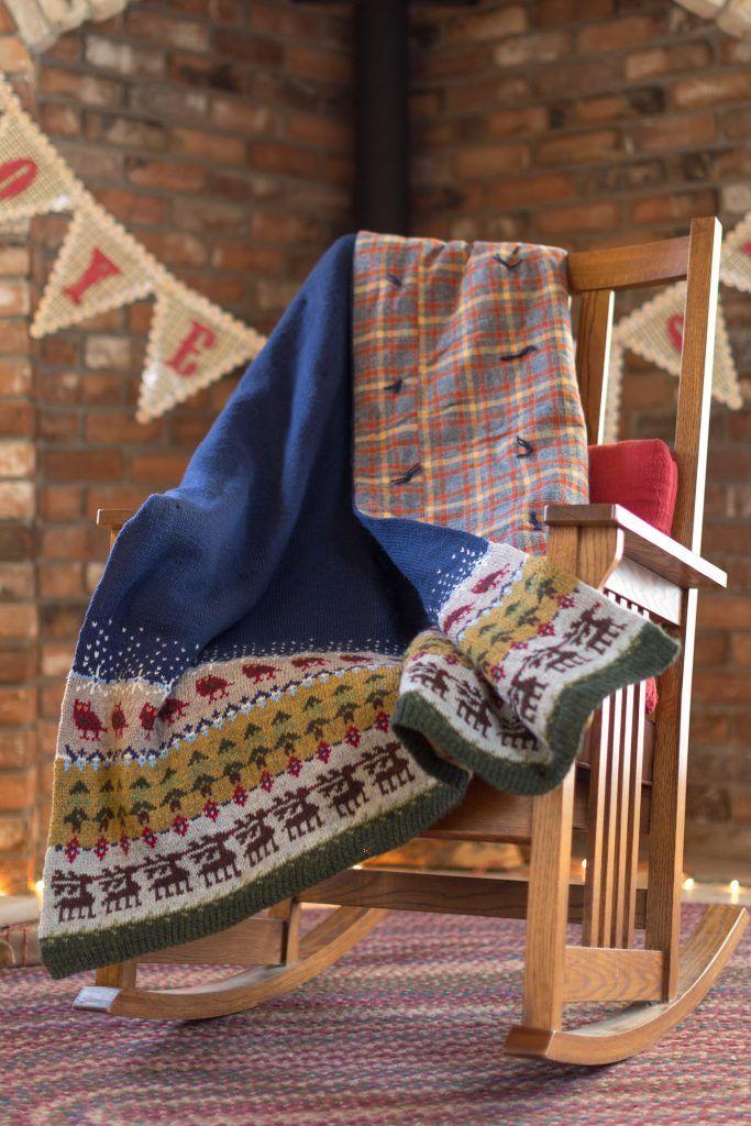 Reindeer Woods Blanket Knitting Blanket Patterns Blanket And Woods