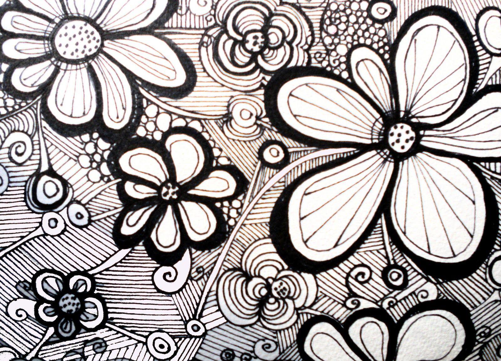 Line Art Flower Design : Best zen designs images zentangle drawings