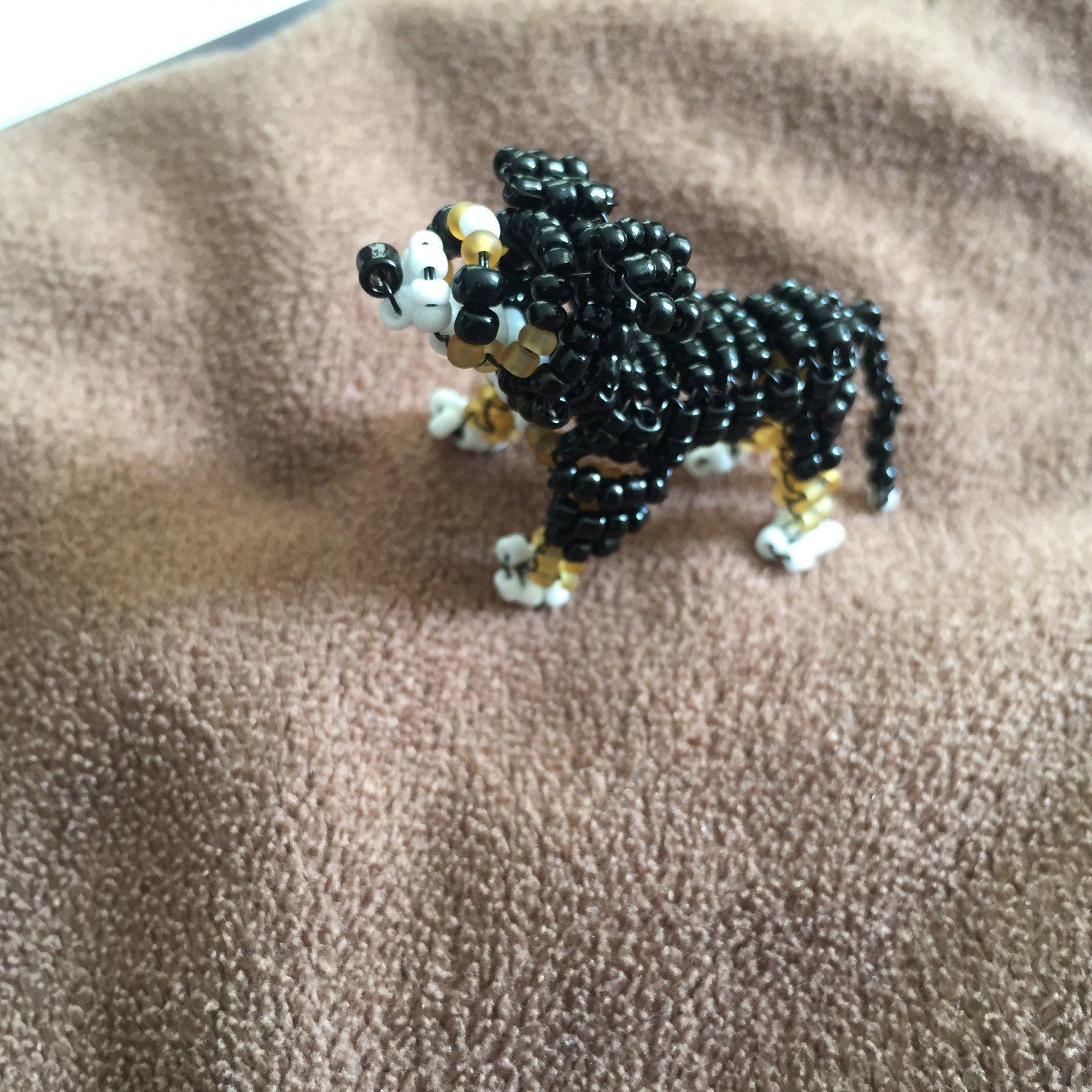 Perro rottweiler de abalorios Brooch, Jewelry