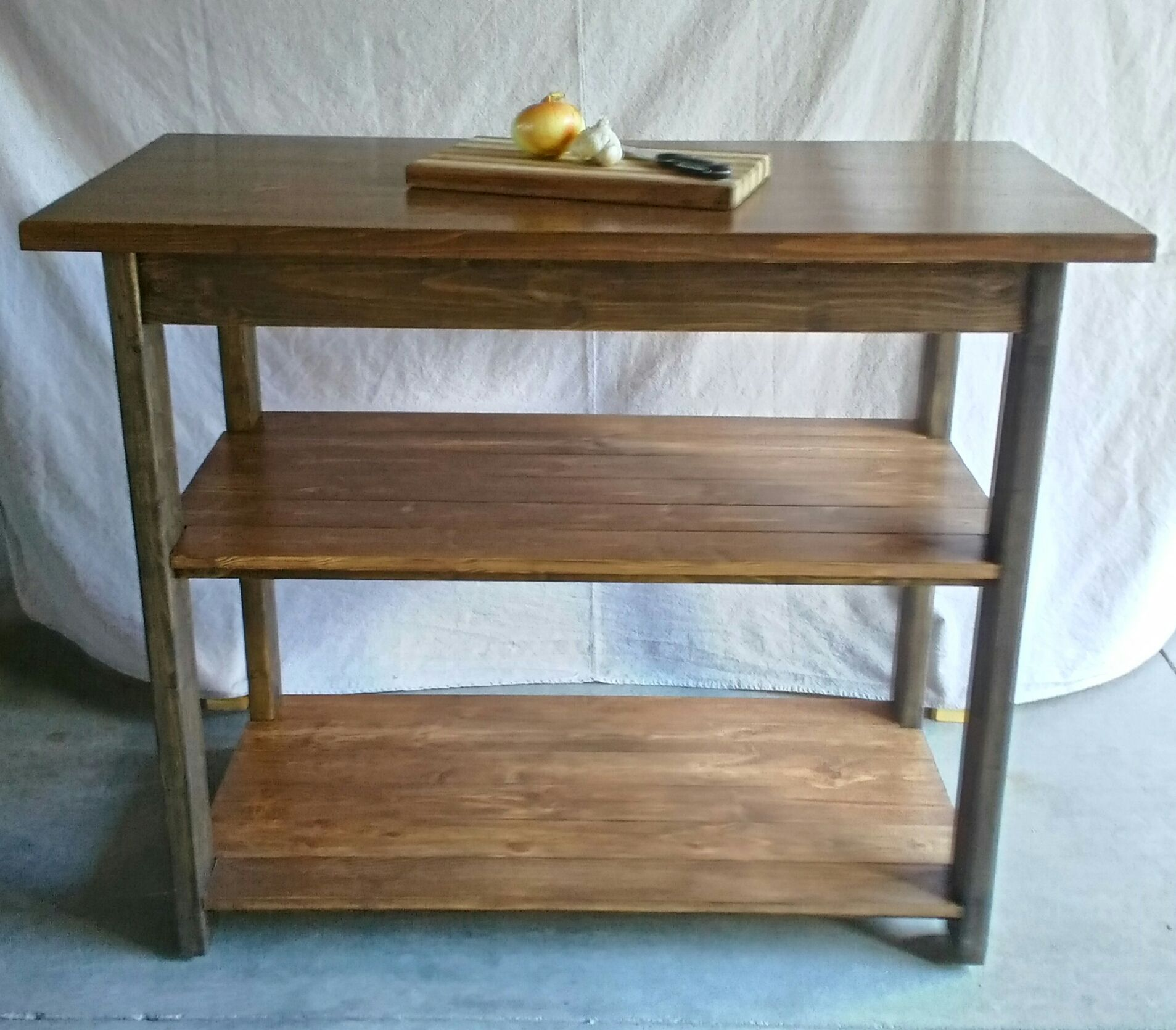 2 Shelf Entry Table / Kitchen Island selling for $250,00 - Port Clinton, Ohio
