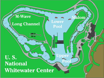US National Whitewater Center course map Charlotte North Carolina