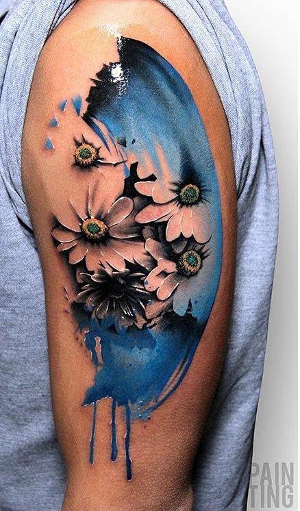 Szymon Gdowicz Pain Ting flower tattoo Pain Ting tattoo - küchen aus polen