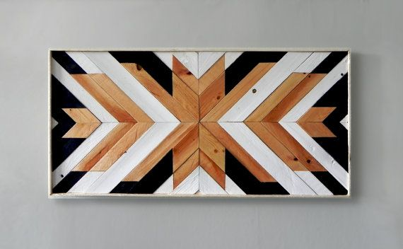 Wood Wall Art ~ Large Wall Art ~ Wooden Wall Art ~ Wooden Wall Art Large ~ Geometric Wood Wall Art ~ Black and White Wood Wall Art ~ Modern