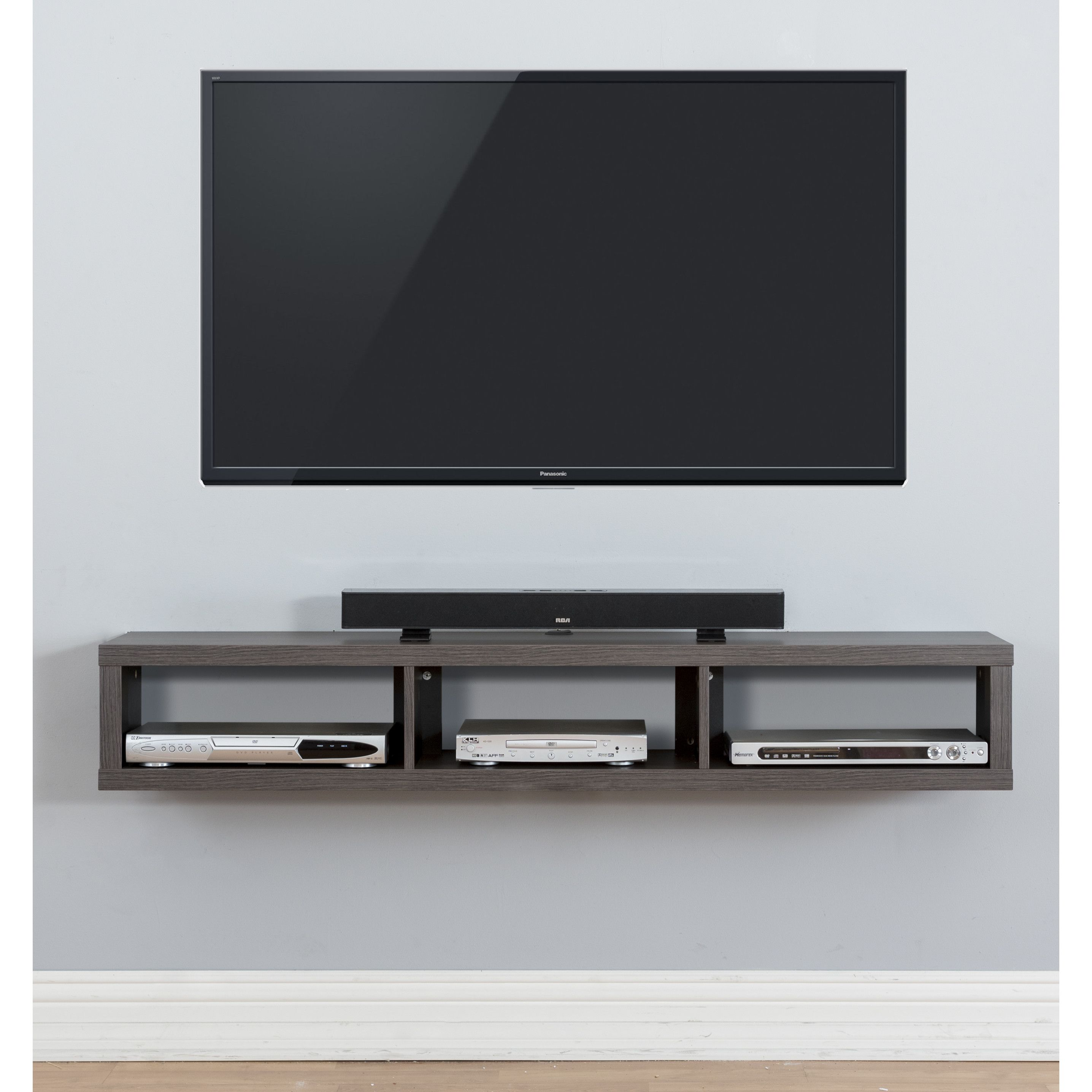 Martin Home Furnishings 60 Shallow Wall Mounted Tv Component