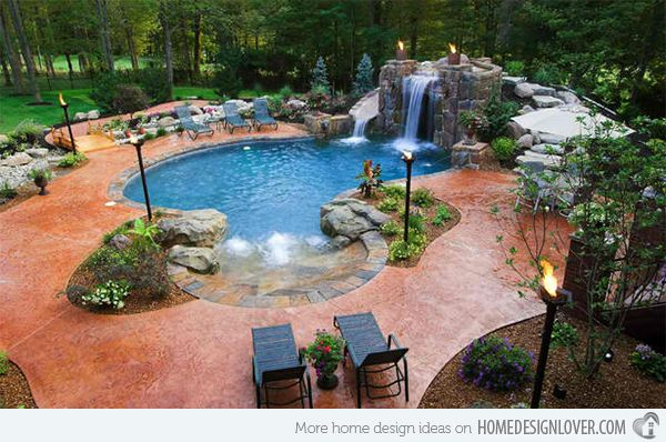 15 Relaxing And Dramatic Tropical Pool Designs