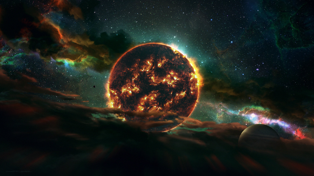 Wallpapers Nebula Solar System Planets