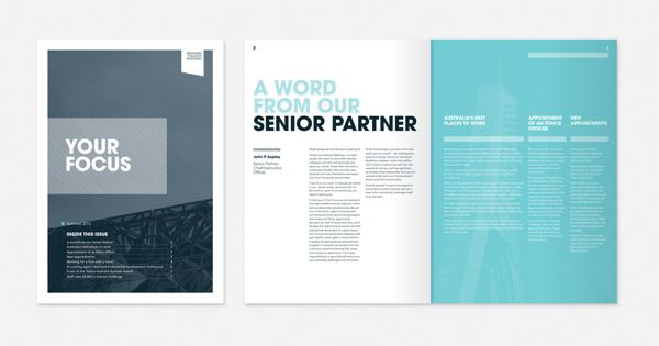 Bertrand Corporate Newsletter on Behance Newsletter Inspiration - law firm brochure