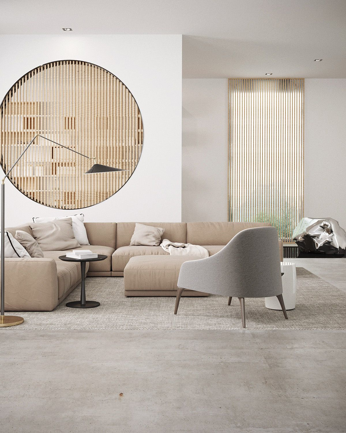 Colors Today - Beige   Modern minimalist living room, Home ...