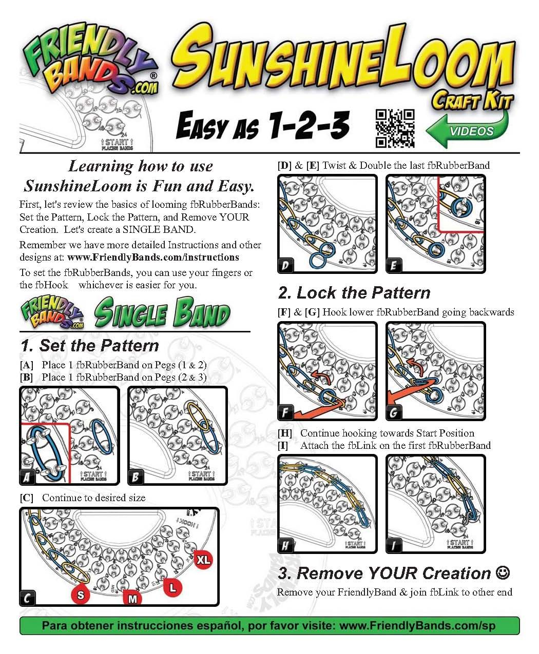 Sunshine Loom Instructions - Page 1 Loom Bands Tutorial, Crazy Loom, Fun  Loom,
