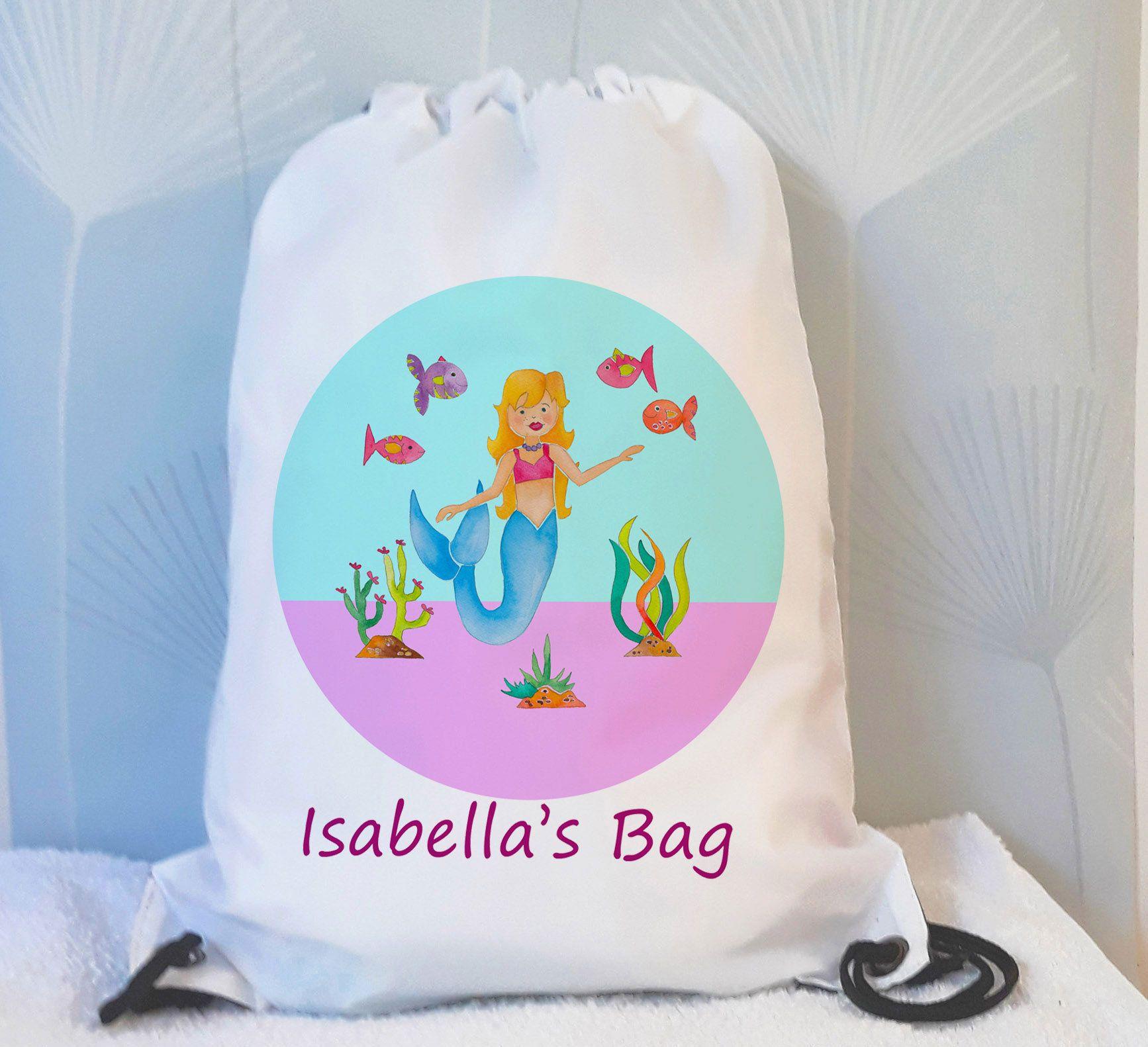 Rapunzel Personalised Kids  Drawstring Bag School Swimming /& More