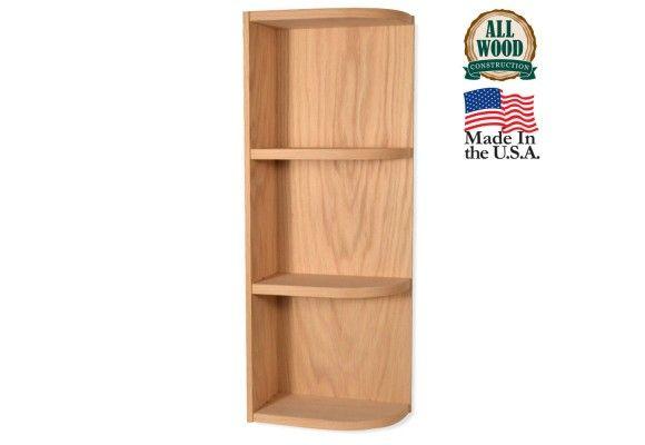 Wall End Shelf 6 X 30 Unfinished Alder Kitchen Cabinet Alder