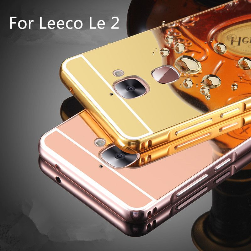 best service ac6cb e0771 For LeEco Le 2 Case Luxury Mirror Metal+Acrylic Hard Back Cover ...