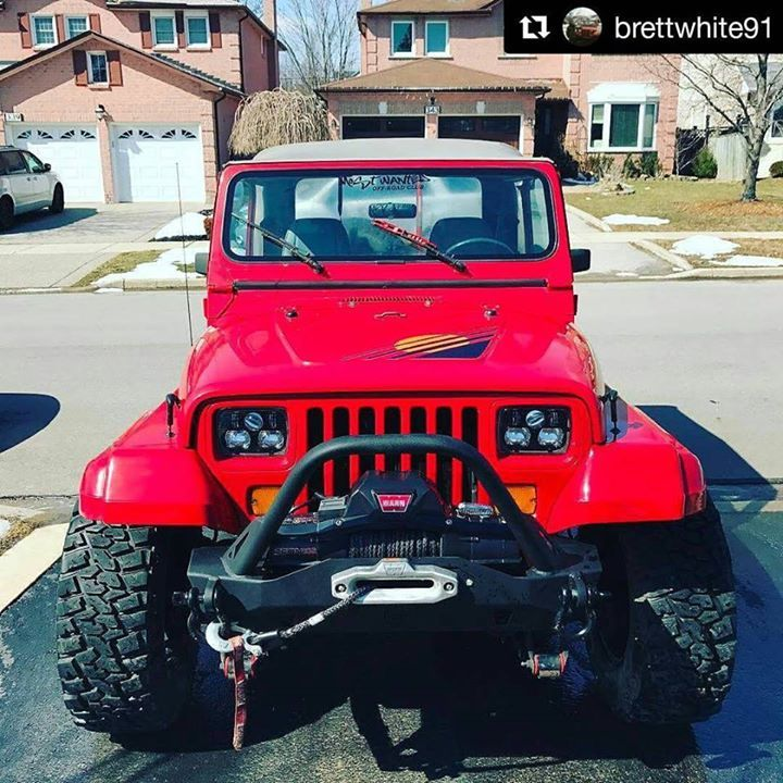 How about a little YJ love this morning? @brettwhite91 is running ...