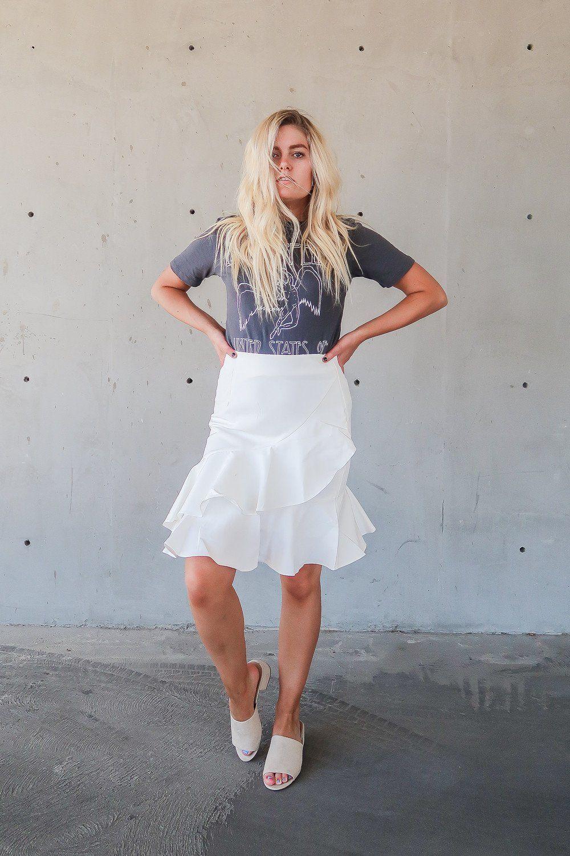 Asymmetrical Ruffle Skirt Easy OutfitsSummer