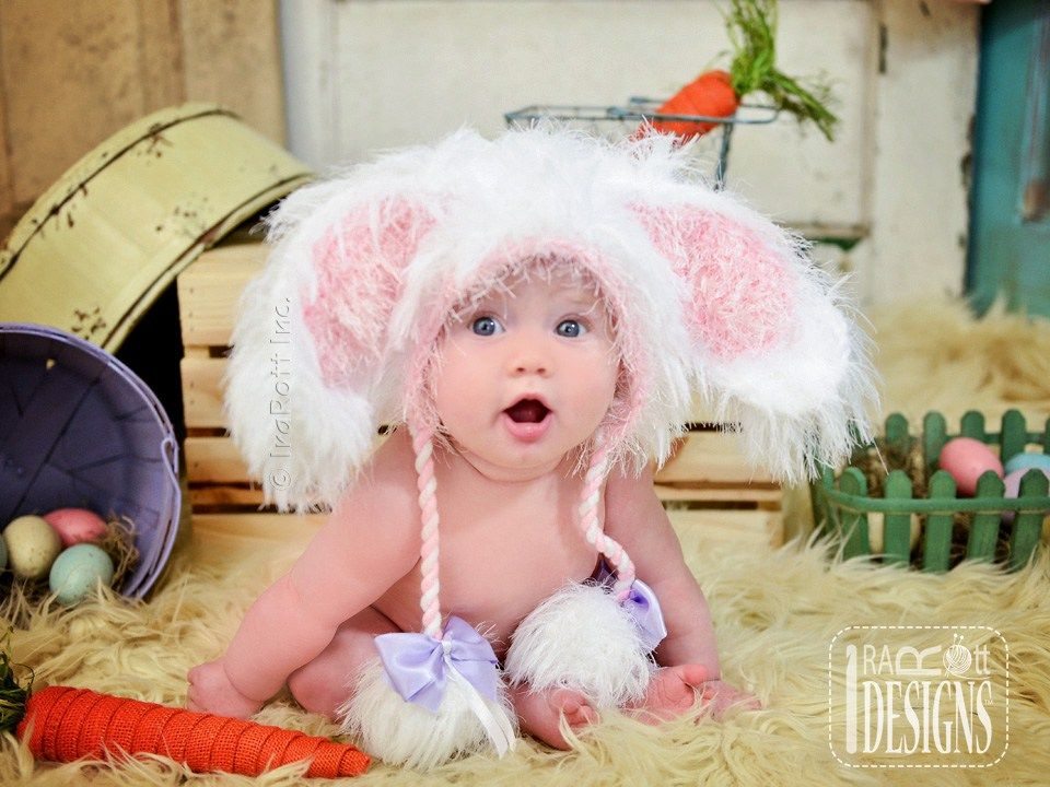 Knitting Pattern Rabbit Hat : Easter bunny rabbit hat for boys and girls of all ages by irarott