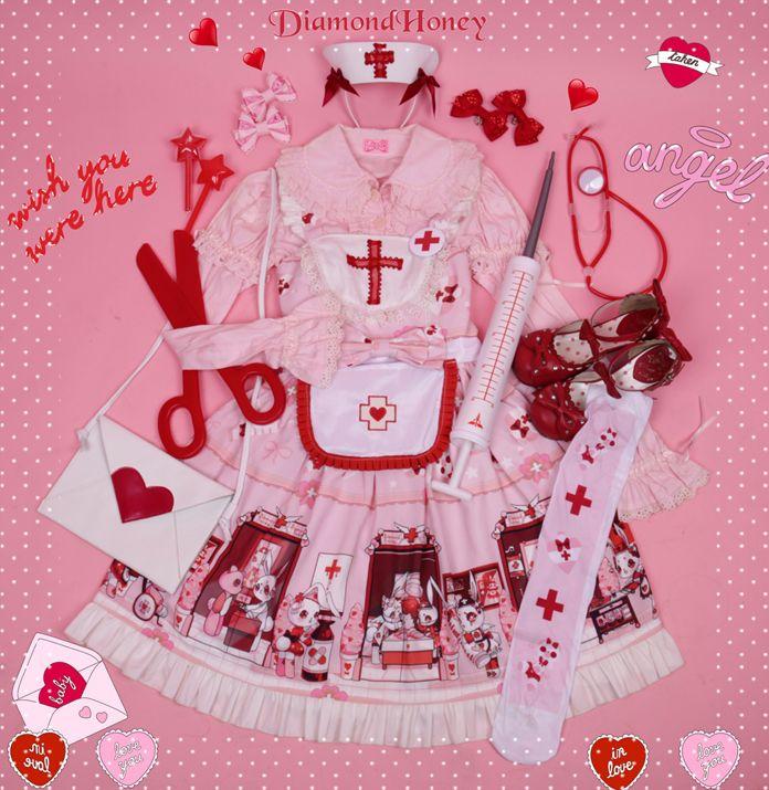 Diamond Honey -Nurse Bunny- Creepy Cute Lolita Jumper ...