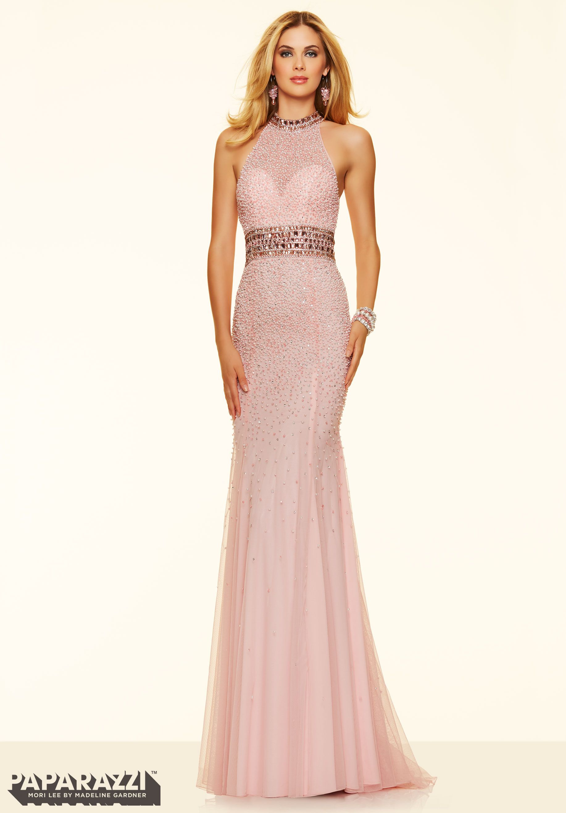 Prom dresses by Paparazzi Prom Pearl Encrusted Net with Jeweled ...