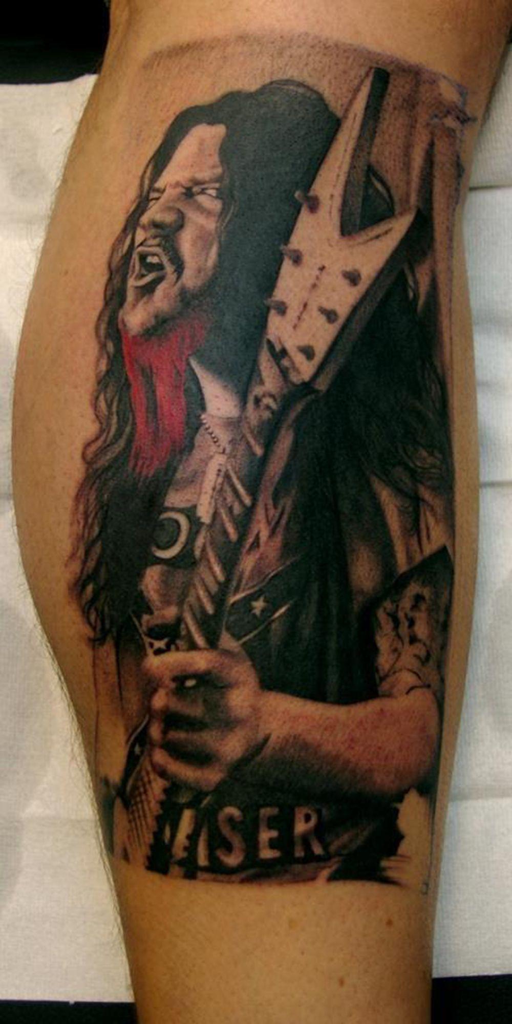 Dimebag tattoo By Jens Bergström | Metal tattoo, Dimebag