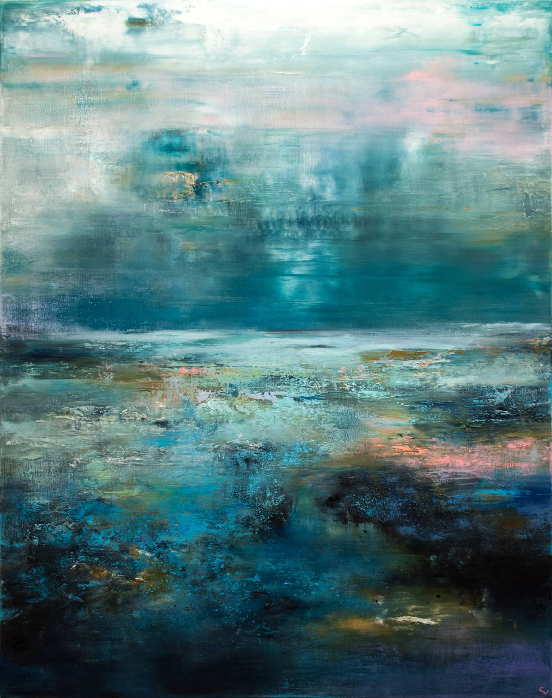 The Blues Painting Abstract Abstract Landscape Abstract Painting
